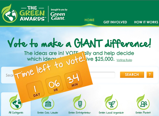 Vote the Greenest Ideas
