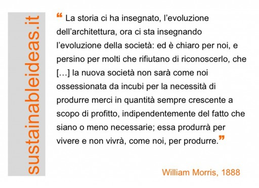 William Morris (1888) about the evolution of society and production