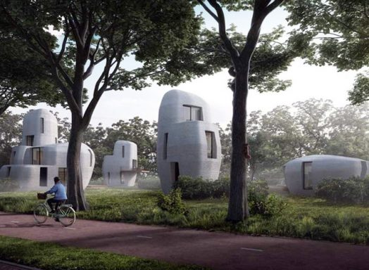 The world's first commercial housing project based on 3D-concrete printing in the Netherlands